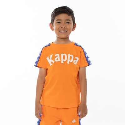 Kids 222 Banda Balima T-Shirt - Orange Blue Royal