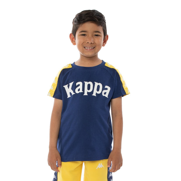 Kids 222 Banda Balima T-Shirt - Blue Md Yellow