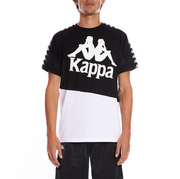 Kappa 222 Banda Baldwin T-Shirt - Black White