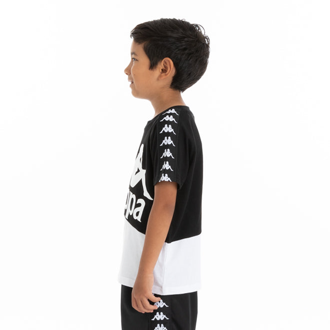 Kids 222 Banda Baldwin T-Shirt - Black White