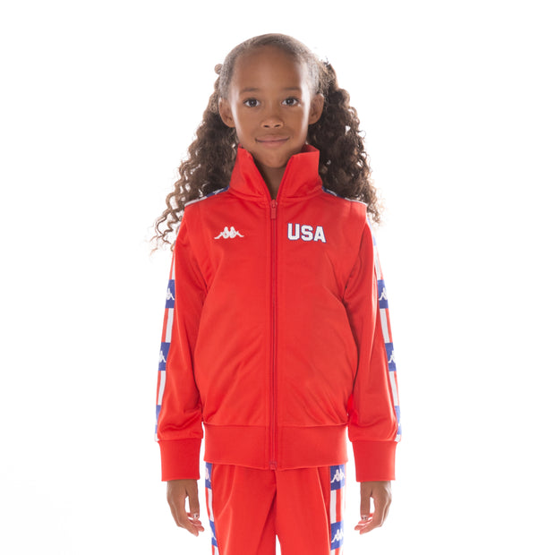 Kids Authentic LA Banir Track Jacket Red Blue