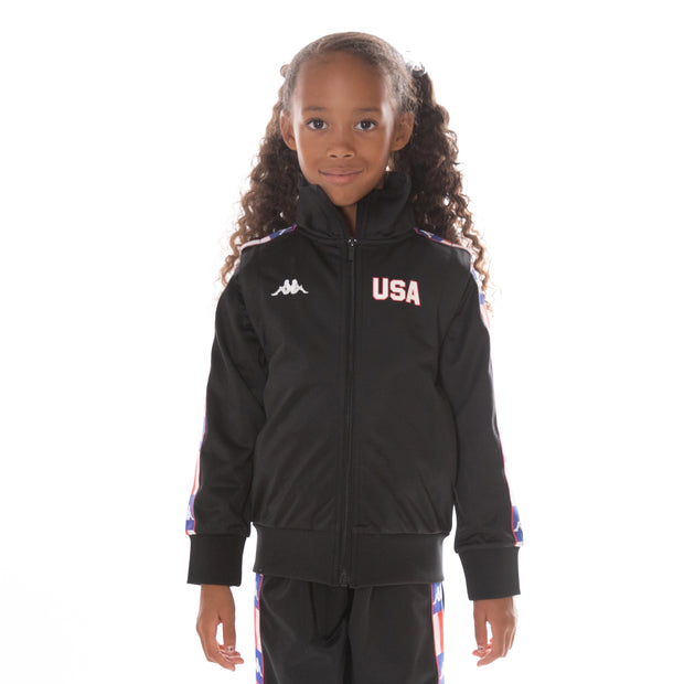 Kids Authentic LA Banir Track Jacket Black Blue