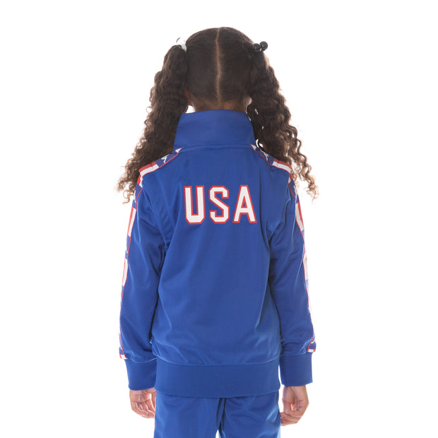 Kids Authentic LA Banir Track Jacket Blue Blue