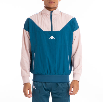 Authentic 90 Balzac Blue Petrol Pink Pullover