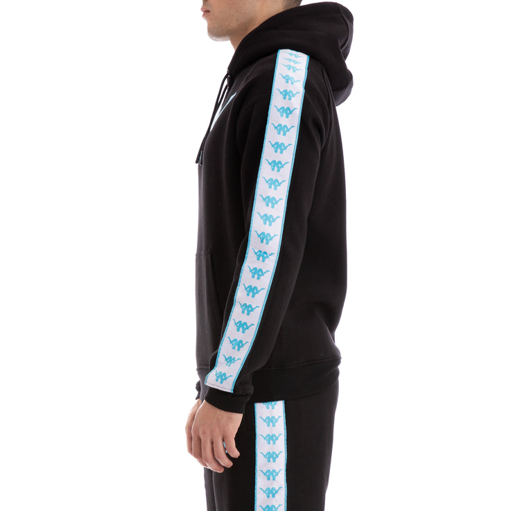 bd7aa9a062 Authentic Baccello Up & Down Black White Turquoise Hoodie – Kappa USA