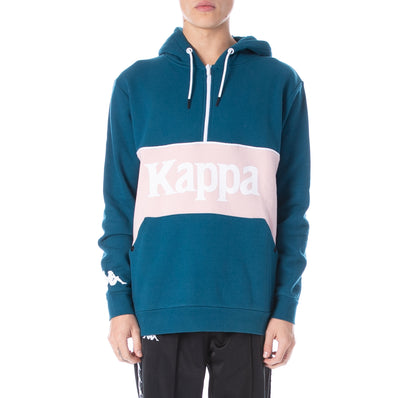 Authentic 90 Barna Half Zip Hoodie - Blue Petrol Pink
