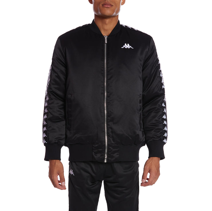 Kappa 222 Banda Bawer Bomber Jacket - Black White