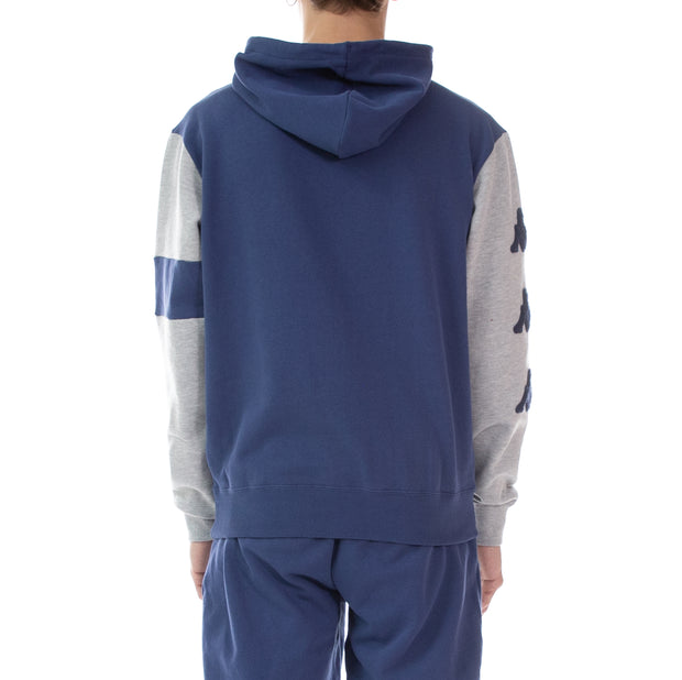 Authentic Bensy Hoodie - Blue Md Grey Lt Mel