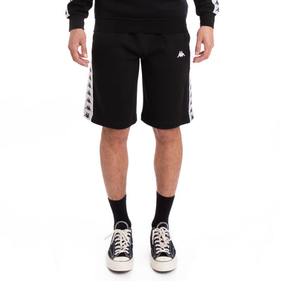 Kappa 222 Banda Marvz Black Grey Silver White Shorts
