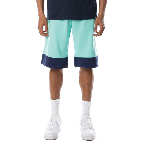 Authentic Sand Collide Shorts - Aqua Blue White