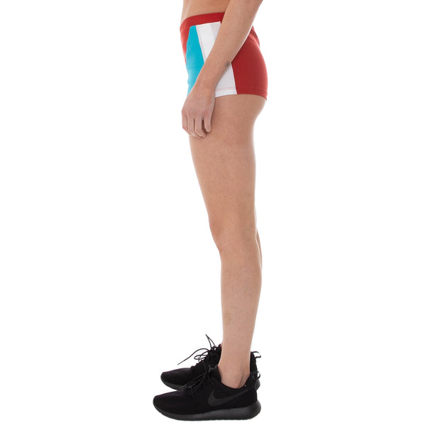 Authentic Rally Camil Shorts - Red White Turquoise