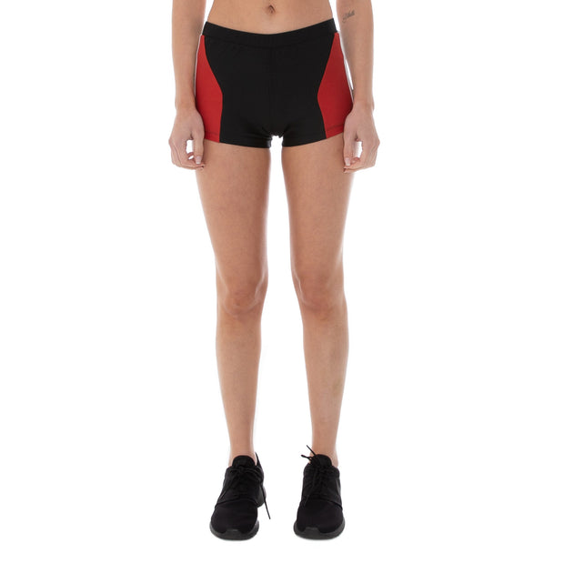 Authentic Rally Camil Shorts - Black Red White