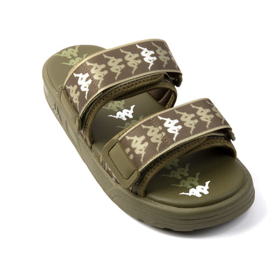 222 Banda Aster 1 Sandals - Green Olive White