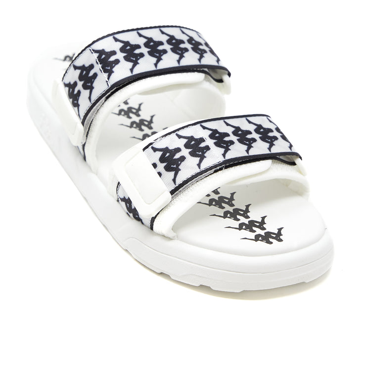222 Banda Aster 1 Sandals - White Black Black
