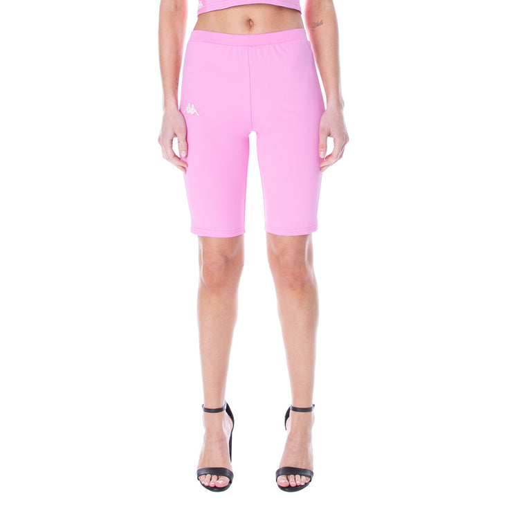 222 Banda Cicles Bike Shorts - Pink White