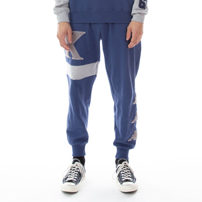 Authentic Bartus Sweatpants - Blue Md Grey Lt Mel