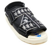 222 Banda Mitel 2 Sandals - Black White Blue