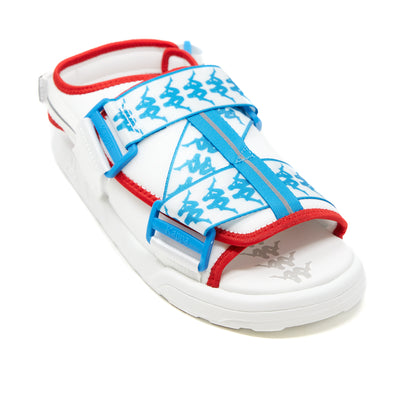 222 Banda Mitel 2 Sandals - White Blue Red