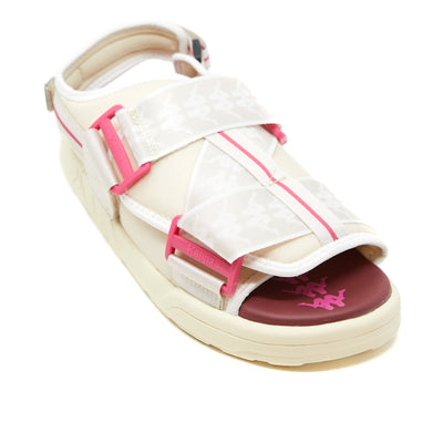 222 Banda Mitel 2 Sandals - Off White Fuchsia