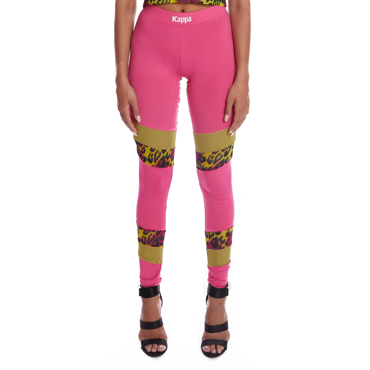 Kappa Authentic Delani Graphik Leggings - Fuchsia Graphic Cheetah