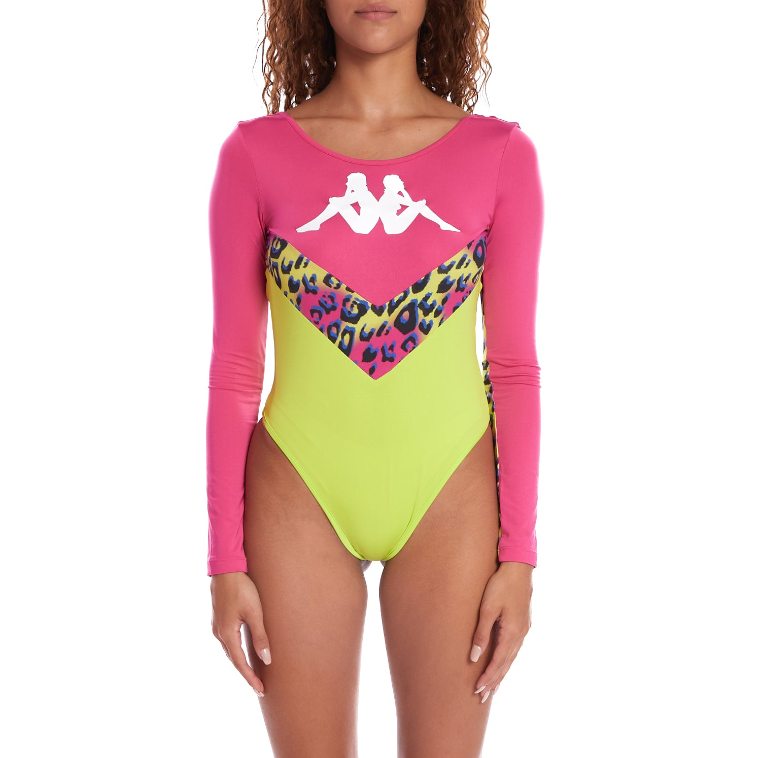 Kappa Authentic Daiana Graphik Bodysuit - Fuchsia Graphic Cheetah