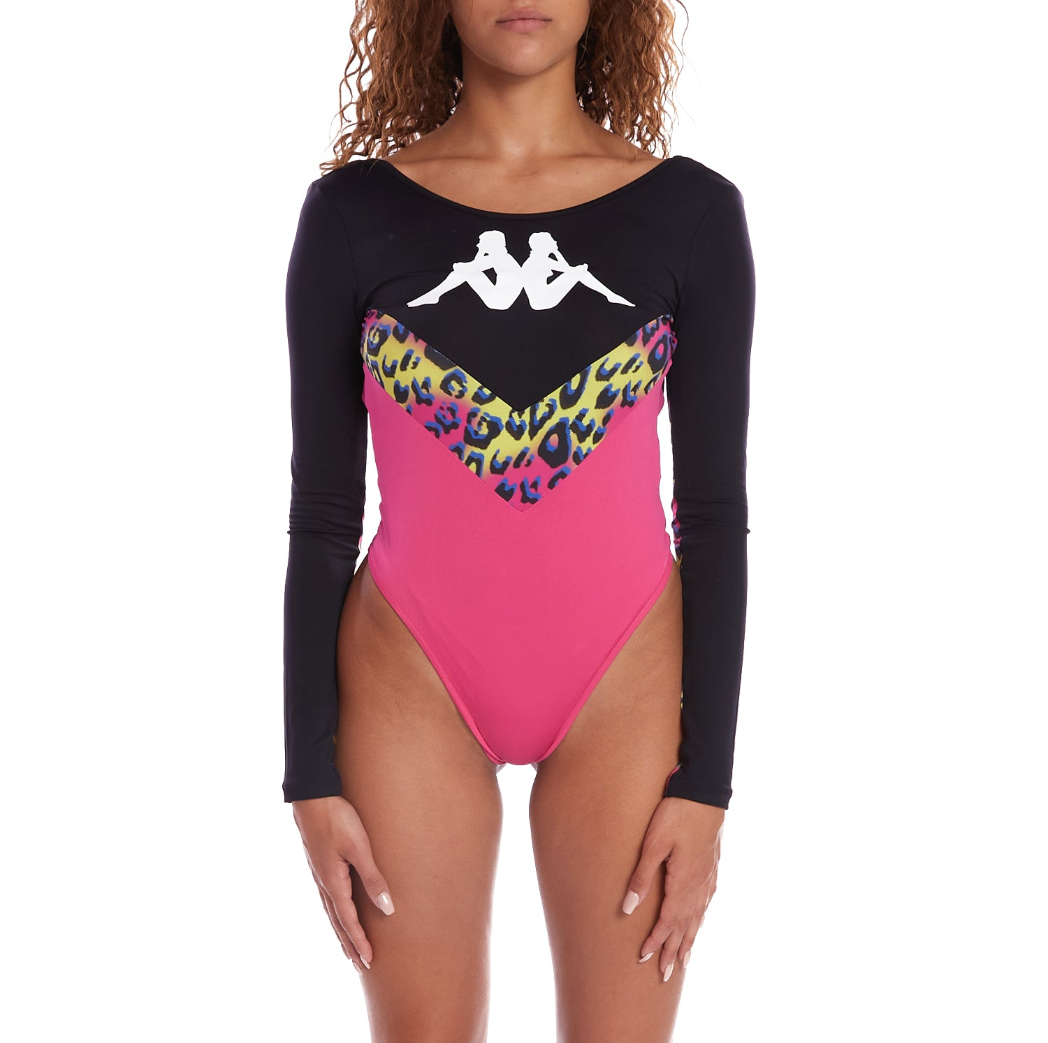 Kappa Authentic Daiana Graphik Bodysuit - Black Graphic Cheetah