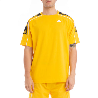 Kappa 222 Banda 10 Arset Yellow Black White T-Shirt