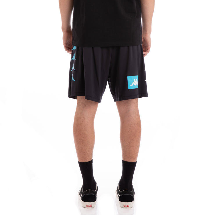 Kappa Authentic Baox Black White Turquoise Shorts