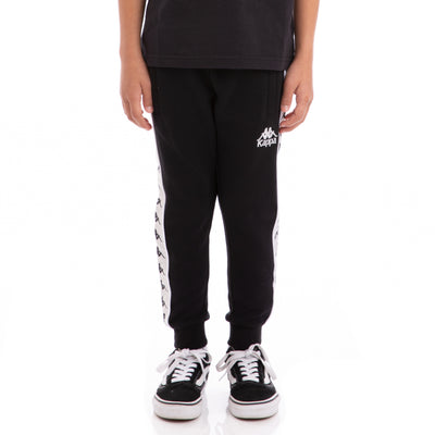Kappa Kids 222 Banda Alanz Black Greysilver White Sweatpants