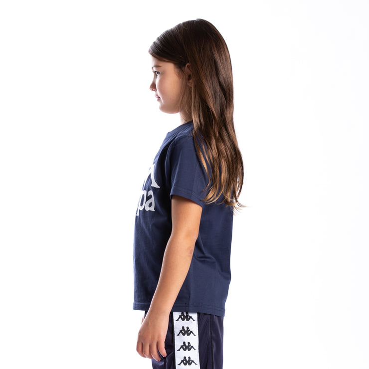Kids Authentic Estessi T-Shirt - Blue Marine White