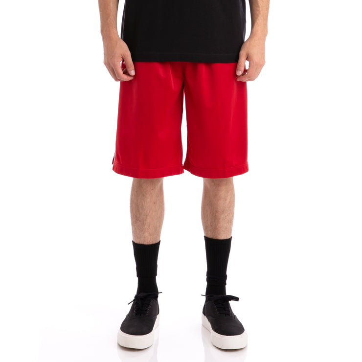 Kappa 222 Banda Treadwellz Red Black Shorts