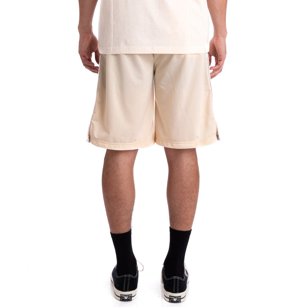 Kappa 222 Banda Treadwellz Beige Grey Silver Black Shorts