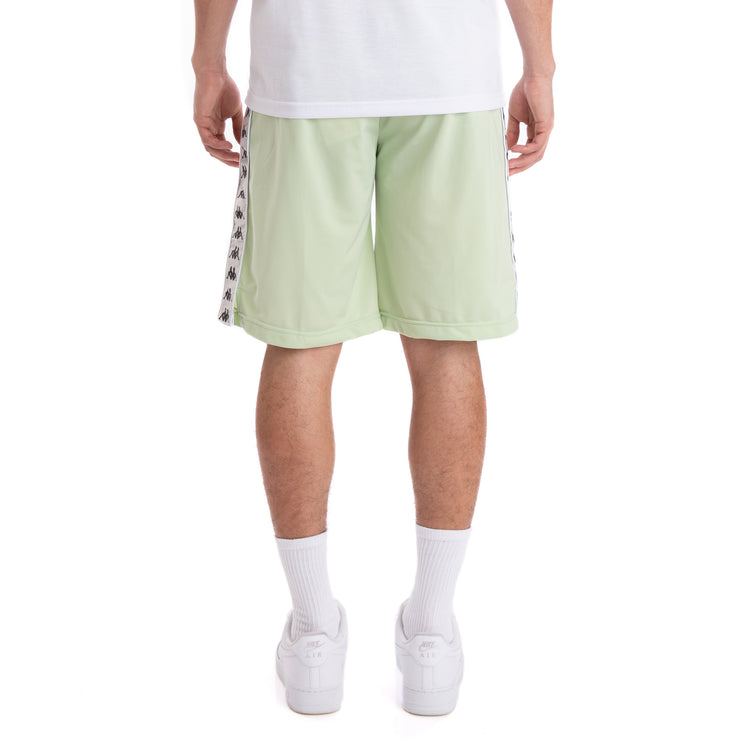Kappa 222 Banda Treadwellz Green Grey Silver Black Shorts