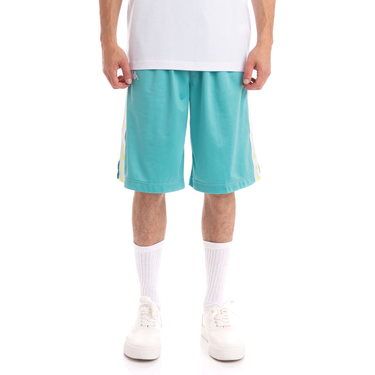 Kappa 222 Banda Treadwellz Green Lt White Shorts