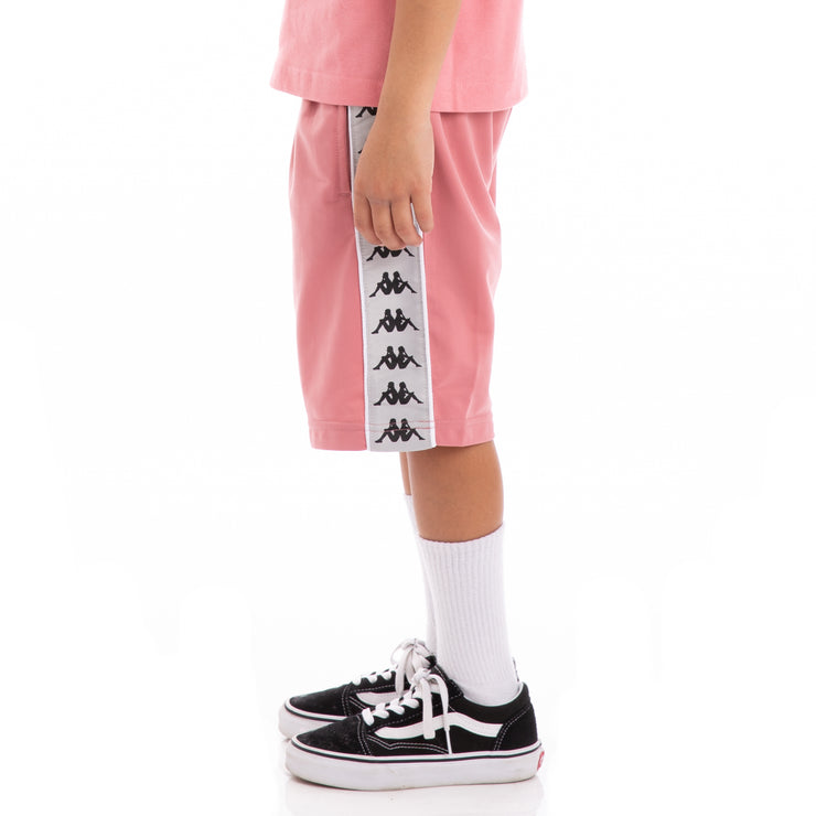 Kappa Kids 222 Banda Treadwellz Pink Greysilver Black Shorts
