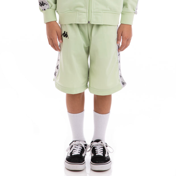 Kappa Kids 222 Banda Treadwellz Green Greysilver Black Shorts