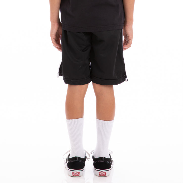 Kappa Kids 222 Banda Treadwellz Black Greysilver White Shorts