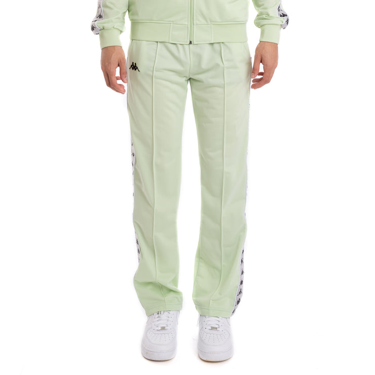Kappa 222 Banda Astoriazz Green Grey Silver Black Trackpants