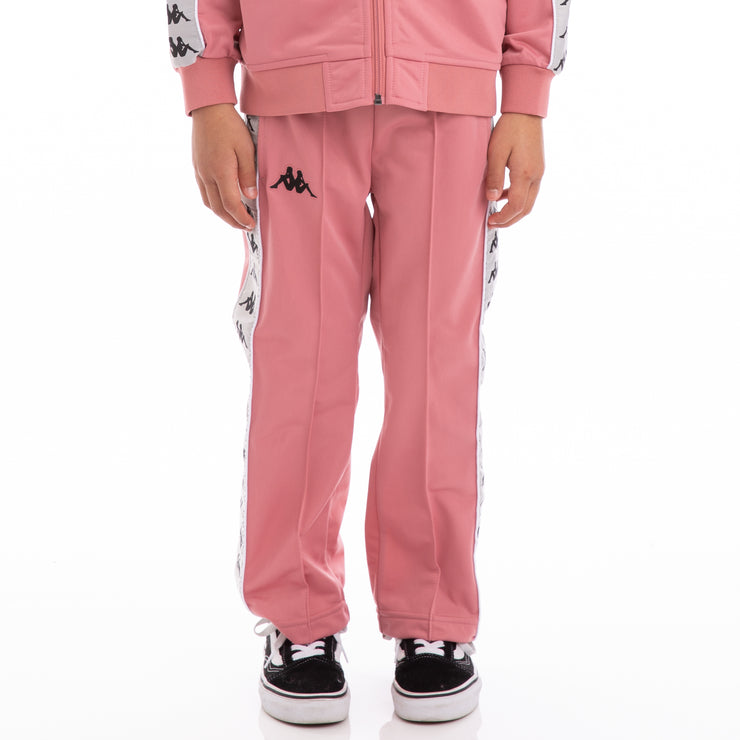 Kappa Kids 222 Banda Astoriazz Pink Greysilver Black Trackpants