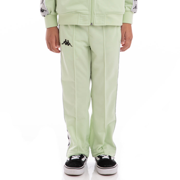 Kappa Kids 222 Banda Astoriazz Green Greysilver Black Trackpants