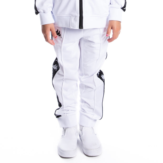 Kids 222 Banda Rastoriazz Trackpants - White Black Graphic