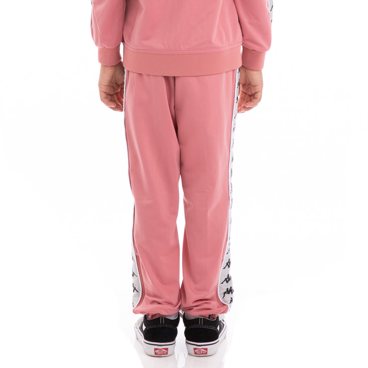 Kappa Kids 222 Banda Rastoriazz Pink Greysilver Black Trackpants