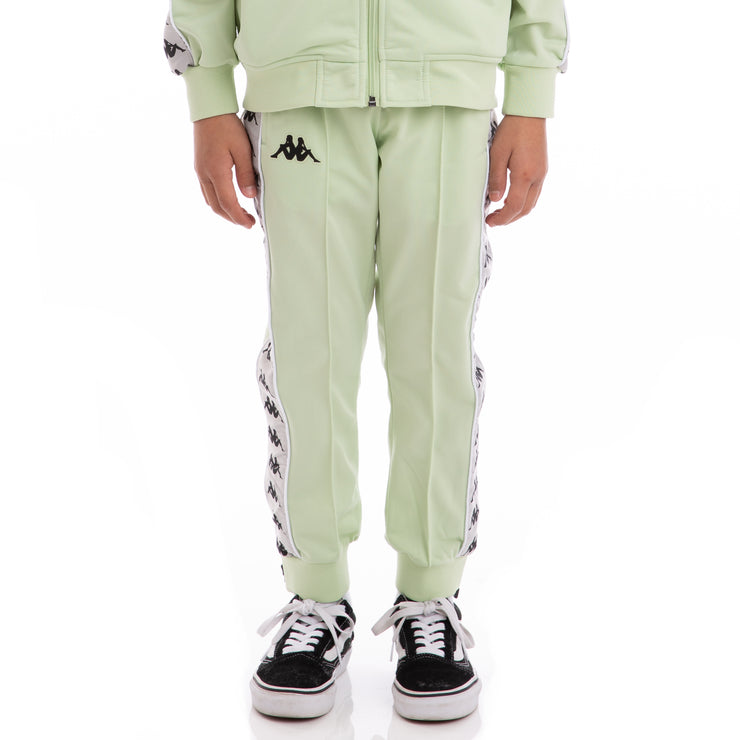 Kappa Kids 222 Banda Rastoriazz Green Greysilver Black Trackpants