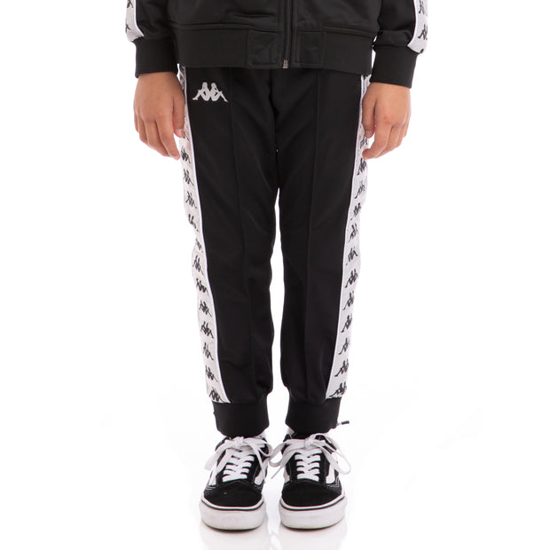 Kappa Kids 222 Banda Rastoriazz Black Greysilver White Trackpants