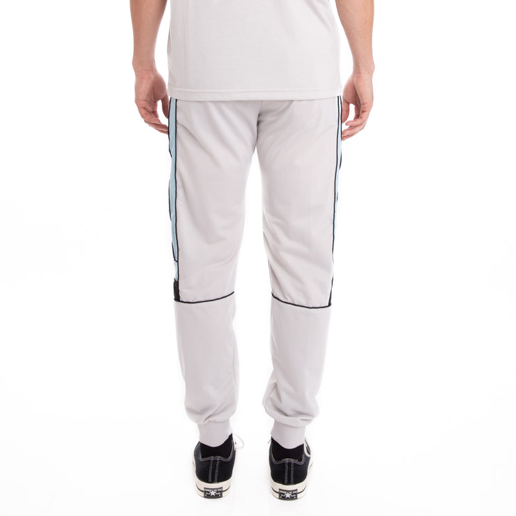 Kappa 222 Banda Memzz Grey Silver Azure Black Trackpants