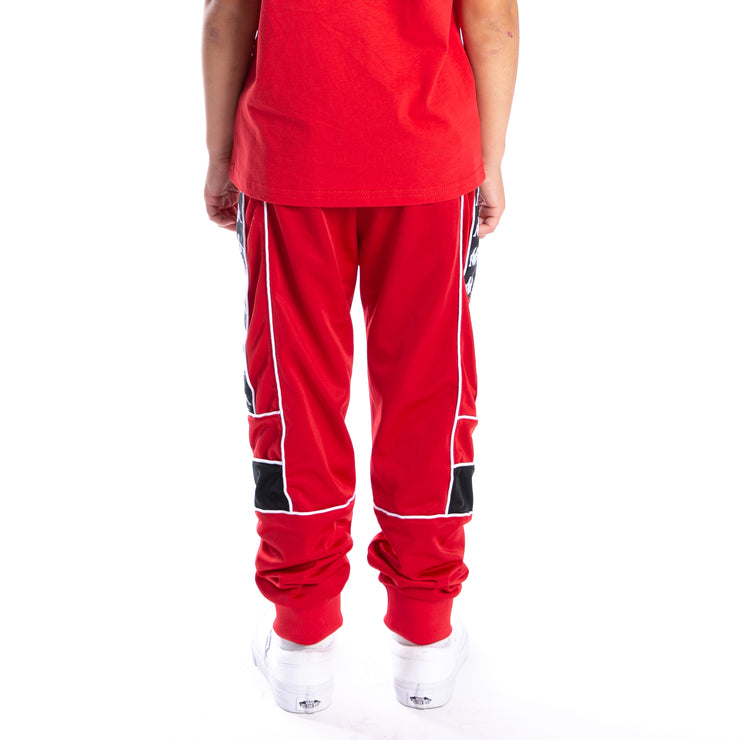 Kids 222 Banda Memzz Trackpants - Red Black