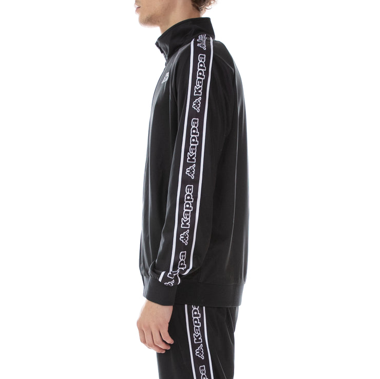 Logo Tape Artem Track Jacket Black Black White