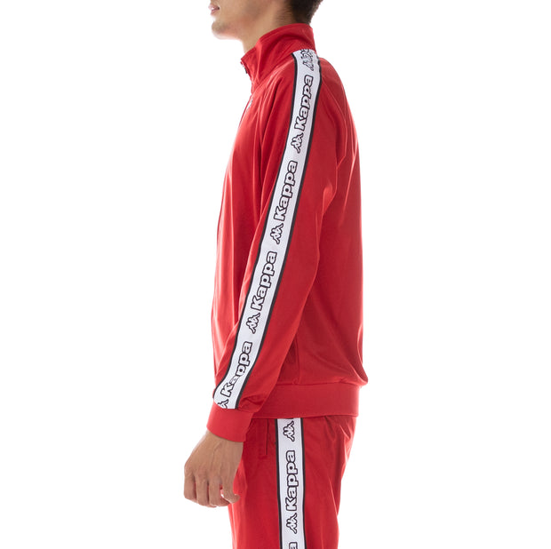 Logo Tape Artem Track Jacket - Red White Black