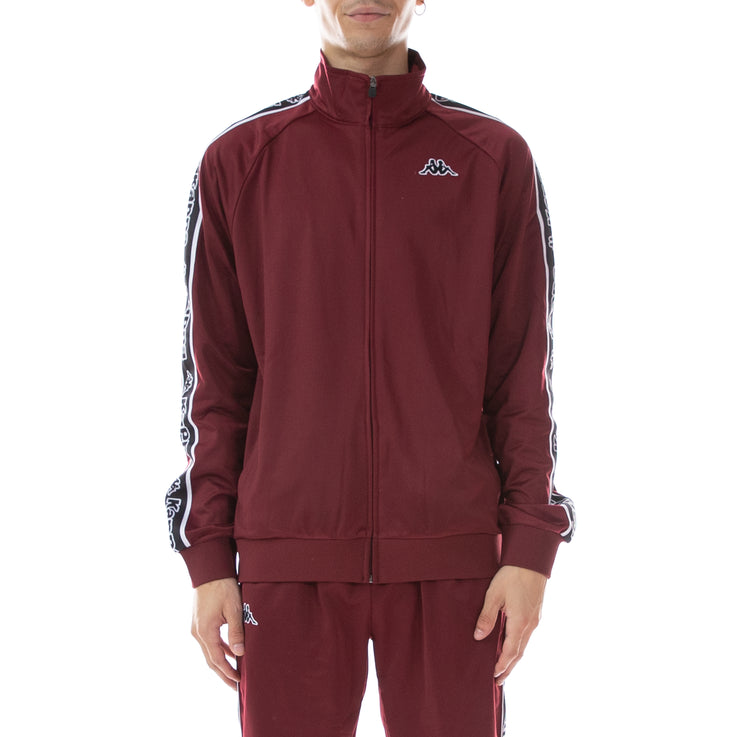 Logo Tape Artem Track Jacket - Red Bordeaux Black White