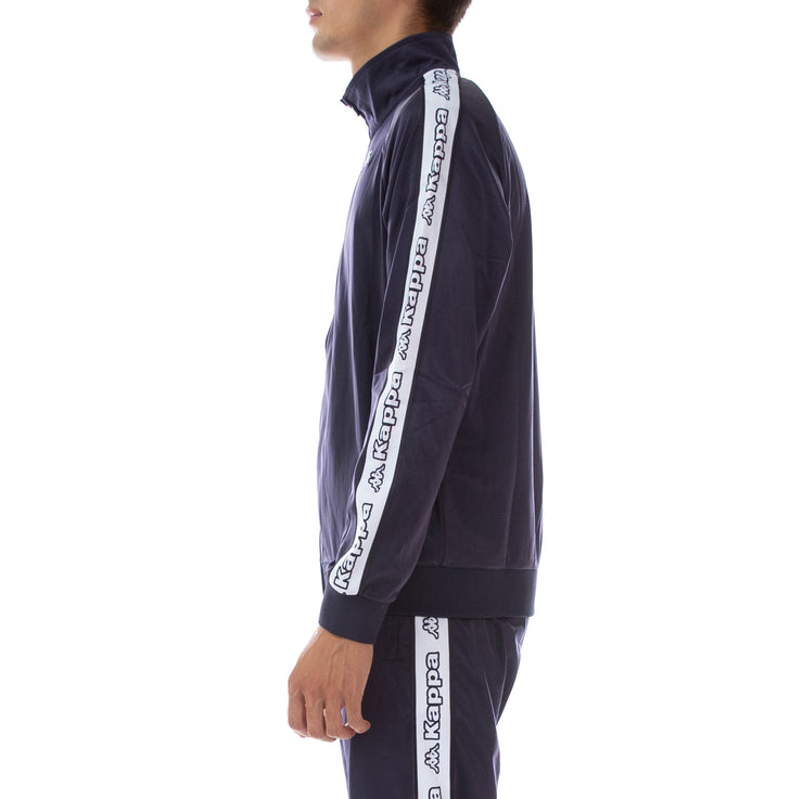 Logo Tape Artem Track Jacket Blue Marine White
